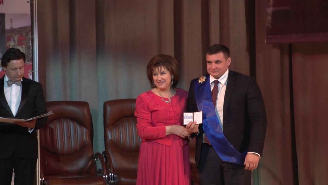 Александра Антоненко наградили орденом «Честь и  слава Великой России»