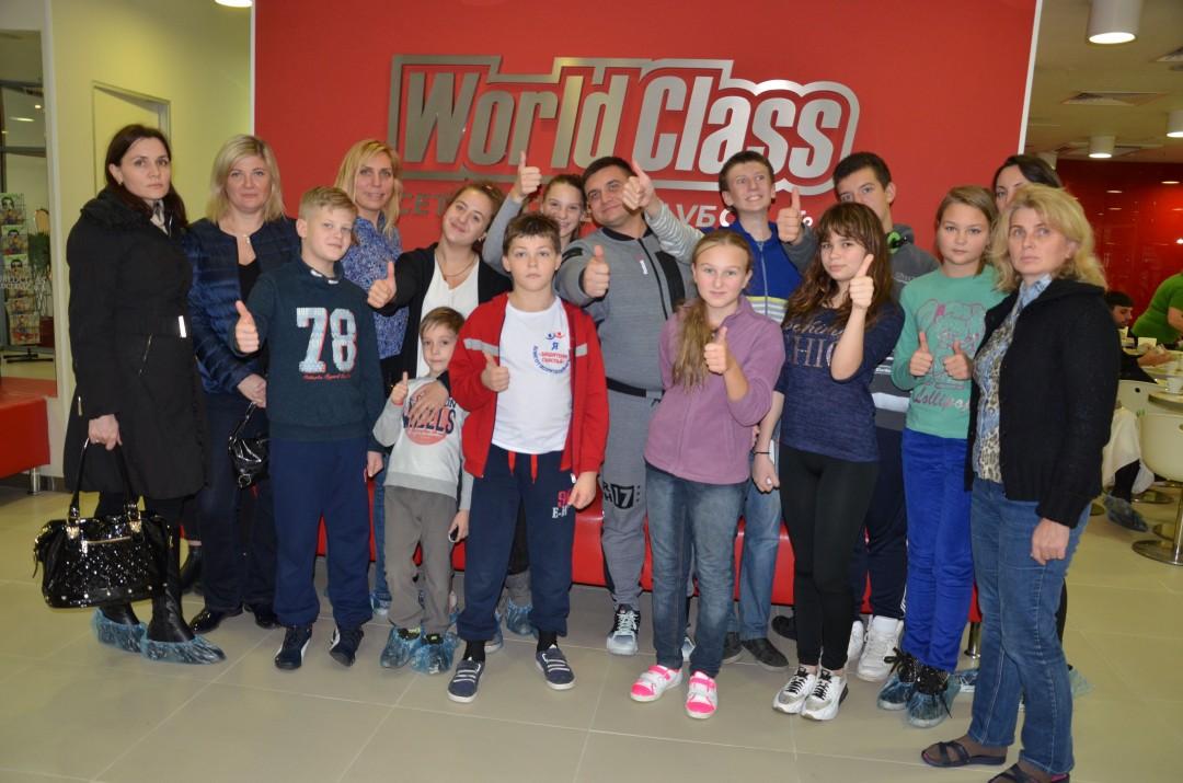 Новая спортивная встреча детей и «Воскресного папы» в  фитнес-клубе World Class